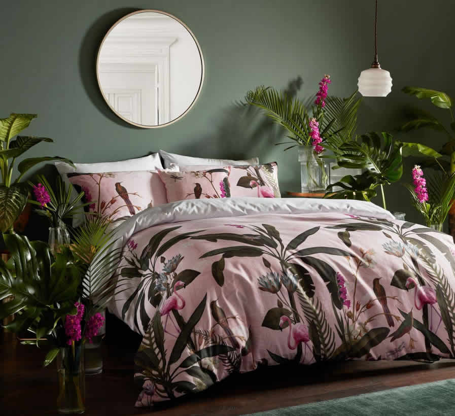 Floral interiors get gothic and surreal:super-sized flower prints featuring wild animals and household pests take over our homes this season