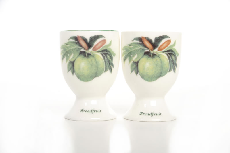 Pair of Breadfruit bone china Egg Cups